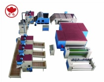 WJM-3 Glue Free Wadding Production Line(Electricity Heating) With Bedding Line