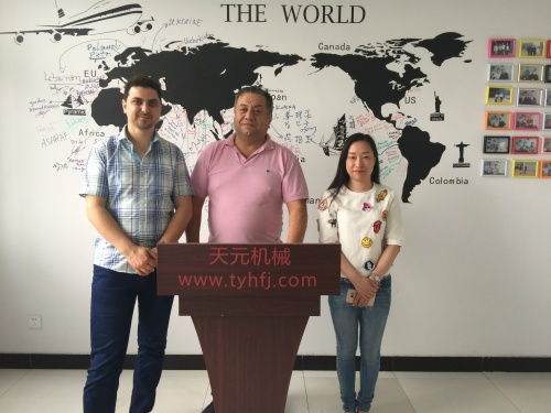 Clients from Syria come for inspecting Glue free wadding production line On JUN12th 2017