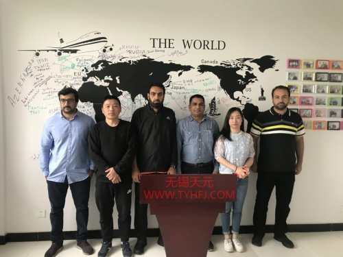 Pakistani customers came to visit factory on APR 23,2018 for checking quiltingball fiber machines