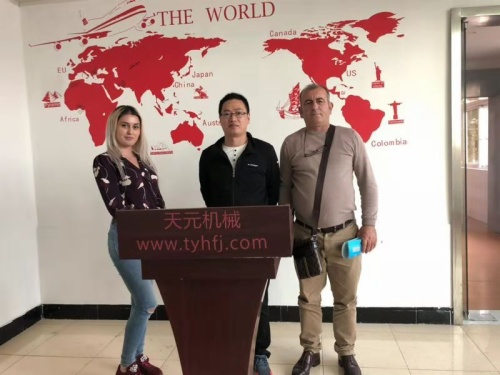 Albania customer visits factory on OCT 26,2018
